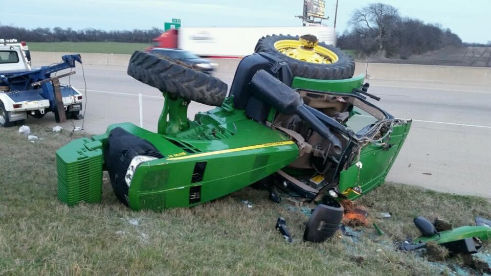 Garden Tractor Pulling Crashes : John deere tractor rollover on us